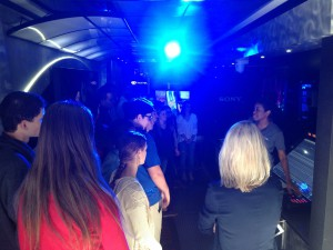 Students get a tour of the Full Sail Mobile Experience Truck at Nease