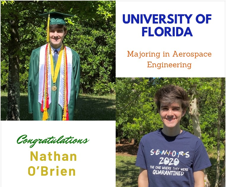 Top 20; Engineering Academy Ambassador; Nease Marching Band