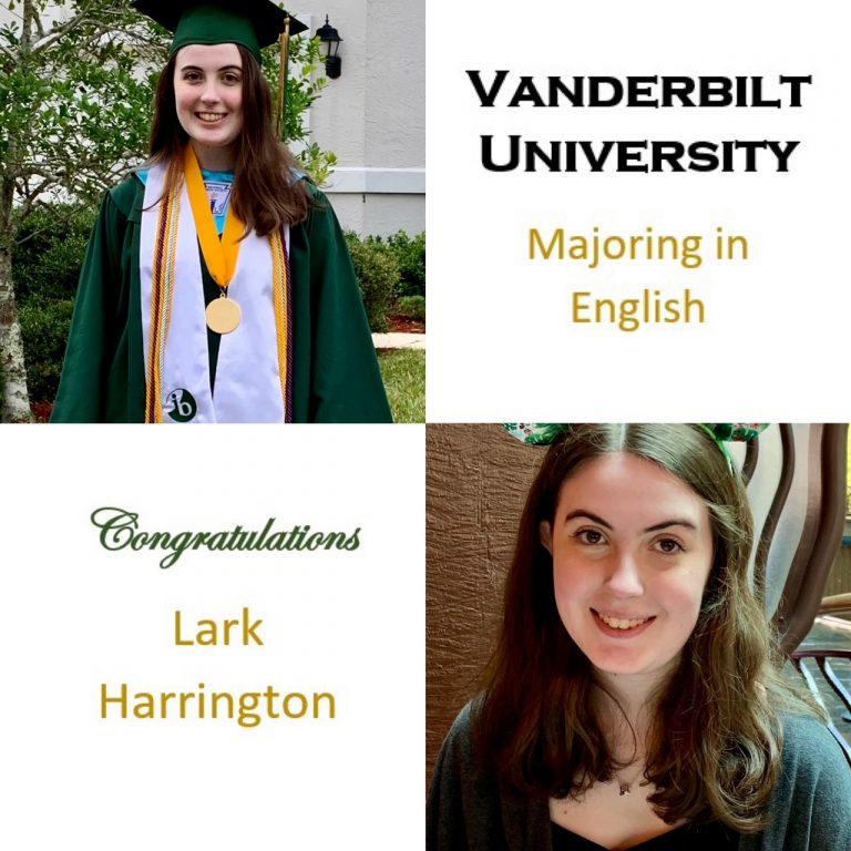 Valedictorian; National Merit Finalist; Curb Scholar; National Honor Society Vice-President; Concert Master of JSYO